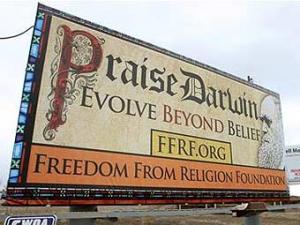 Атеисты развесили в США плакаты