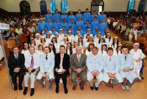 Водное крещение в церкви