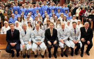 Водное крещение прошло в Минской церкви