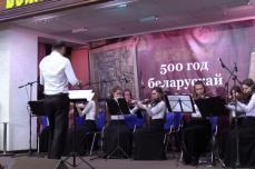 Сводный симфонический оркестр ОЦ ХВЕ участвовал в воскресном богослужении минской